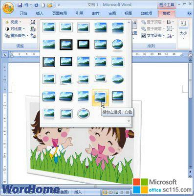 word2007剪贴画样式面板图片